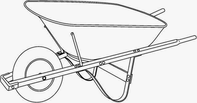 a wheel barrow colorin...
